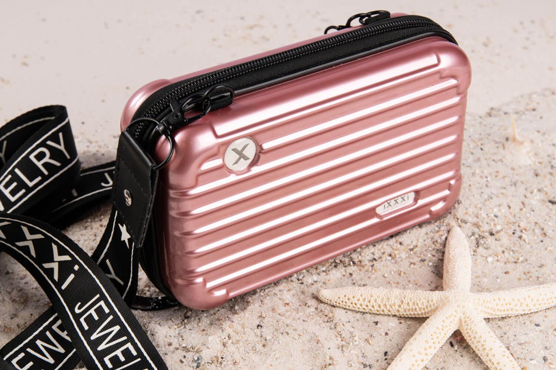 Think Pink - pink hardcase bag iXXXi JEWELRY