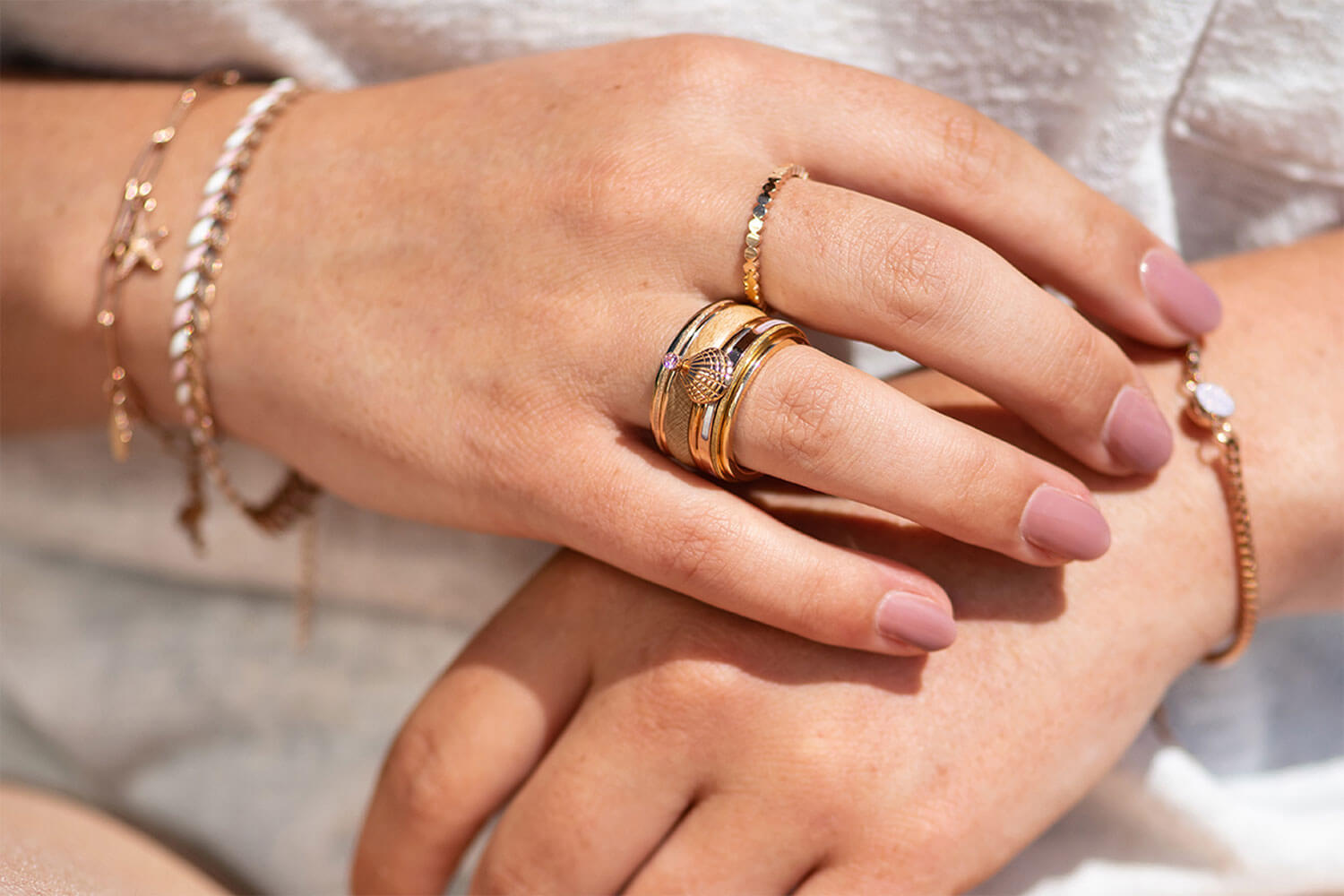 Think Pink - iXXXi JEWELRY rose gold combination with pink fillrings