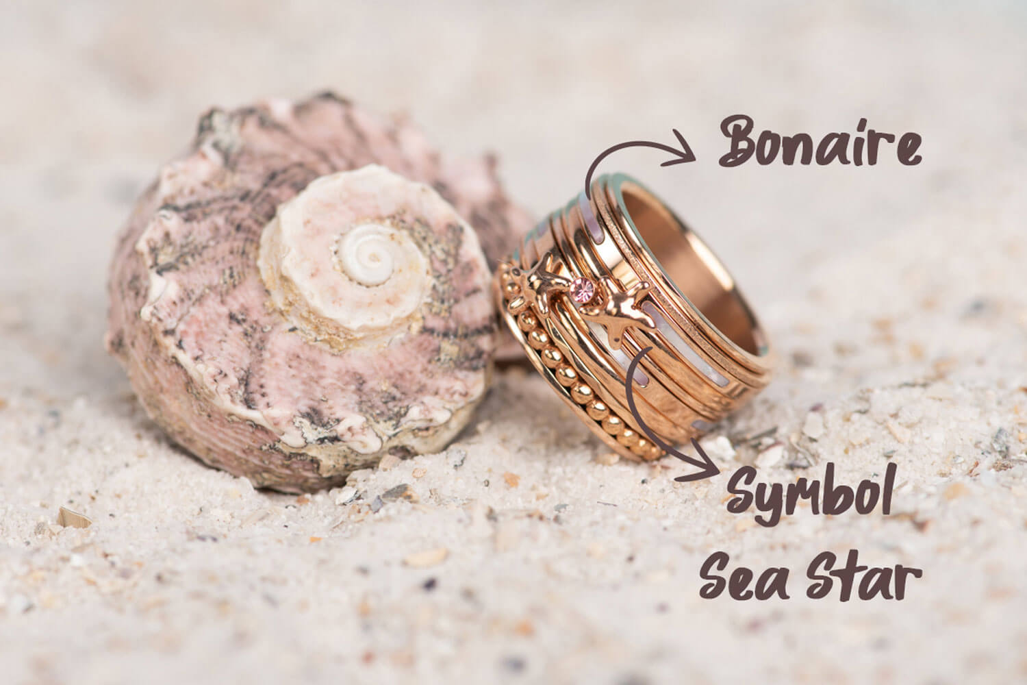 Think Pink - rose gold iXXXi JEWELRY ringcombination with pink fillrings