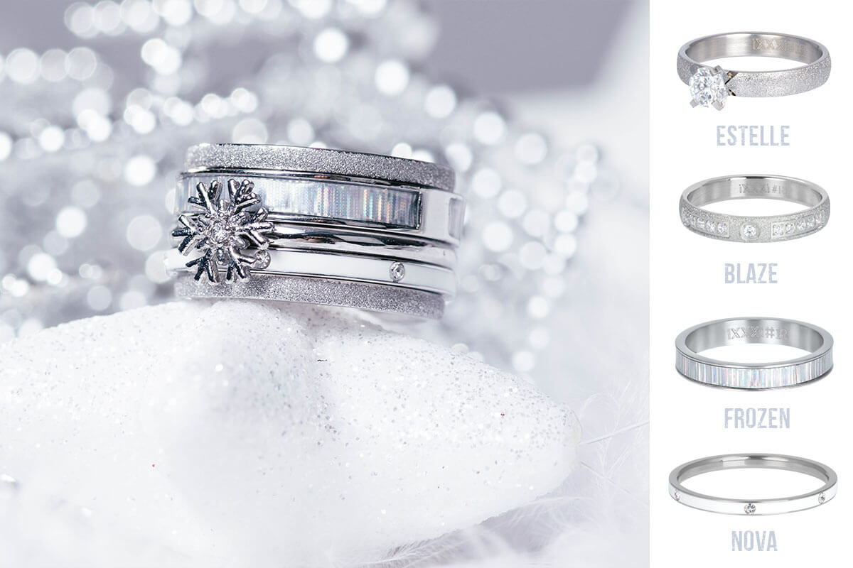 iXXXi JEWELRY - silver winter ring combination