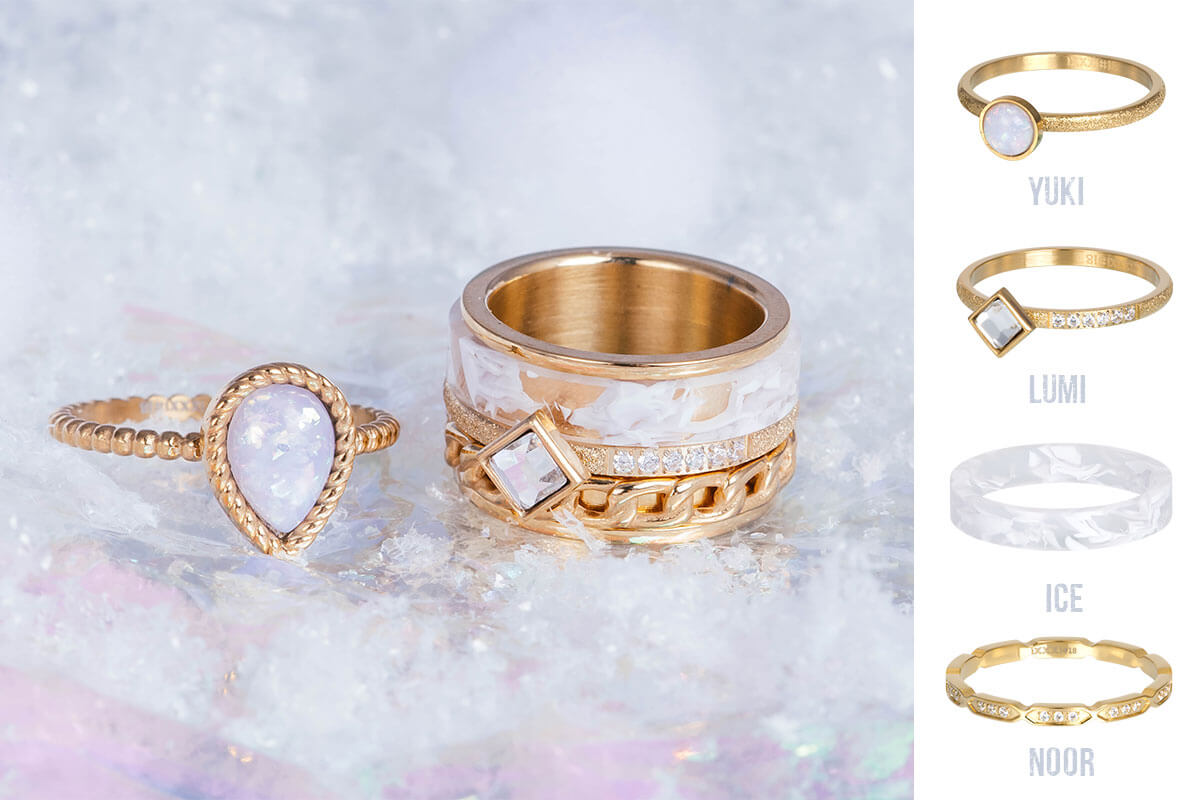 iXXXi JEWELRY - gold winter ring combination